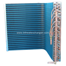 Copper Condenser Coil with Aluminum Coated Fins